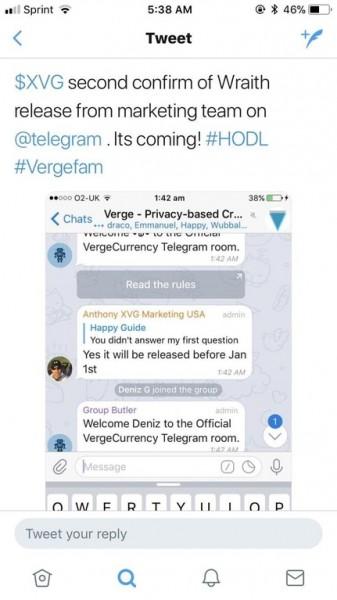 Telegram wraith