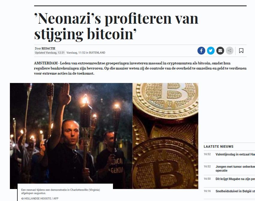 telegraaf nazis bitcoin