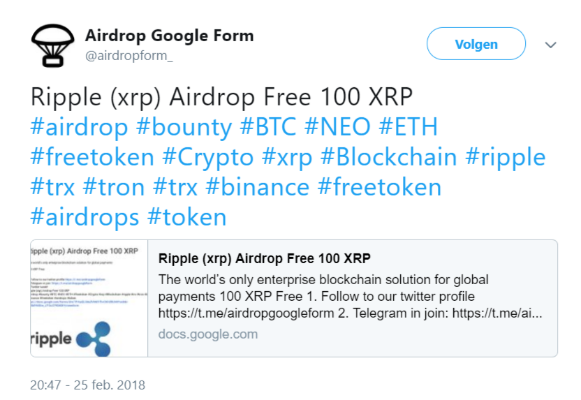 airdrop scam