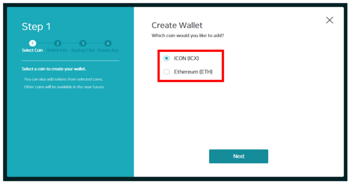 icon wallet erc20 icx